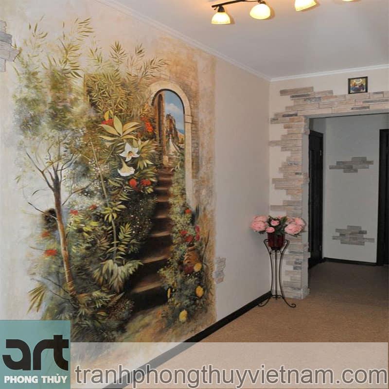tranh tường phòng khách cho nhà chung cư