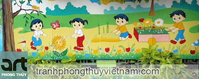 tư vấn thi công vẽ tranh tường tại hà đông hà nội