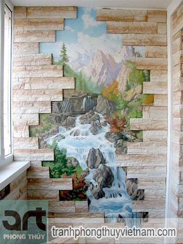 vẽ tranh tường phong cảnh châu âu tại hà đông hà nội