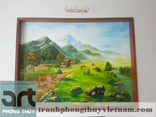 nhận vẽ tranh tường phong cảnh tại hà nội