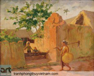tranh làng quê việt nam