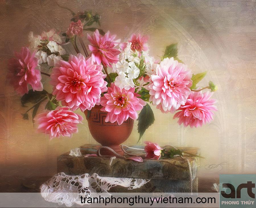 tranh tĩnh vật bình hoa đẹp