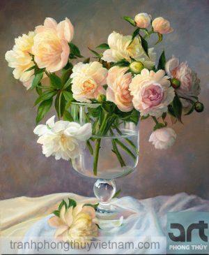tranh tĩnh vật hoa hồng