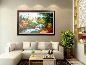 Những mẫu tranh sơn dầu, tranh phong cảnh mang lại may mắn tài lộc cho gia đình
