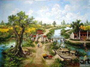 tranh làng quê đẹp