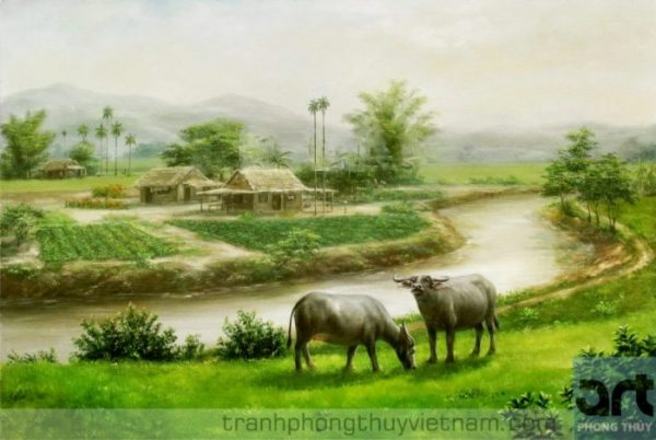 tranh phong cảnh quê hương
