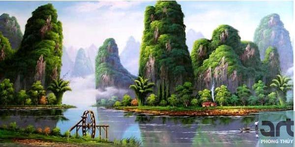 tranh phong cảnh quê hương việt nam