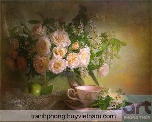 Ý nghĩa tranh hoa hồng trong phong thủy
