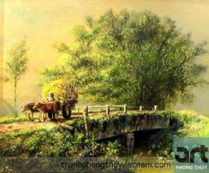 phong cảnh làng quê nông thôn