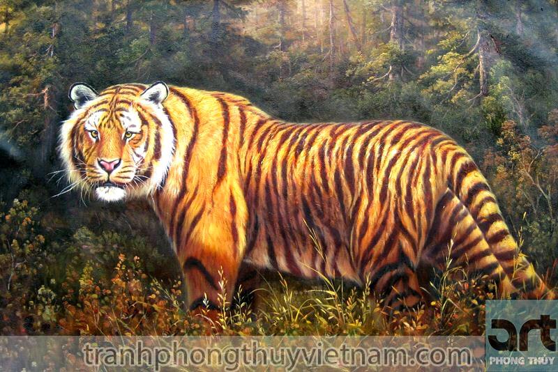 tranh hổ phong thủy đẹp giá rẻ tại hà nội