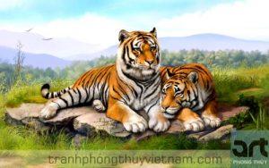 tranh hổ phong thủy