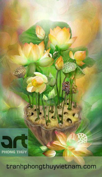 tranh hoa sen đẹp giá rẻ tại hà nội