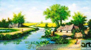 tranh làng quê tuyệt đẹp