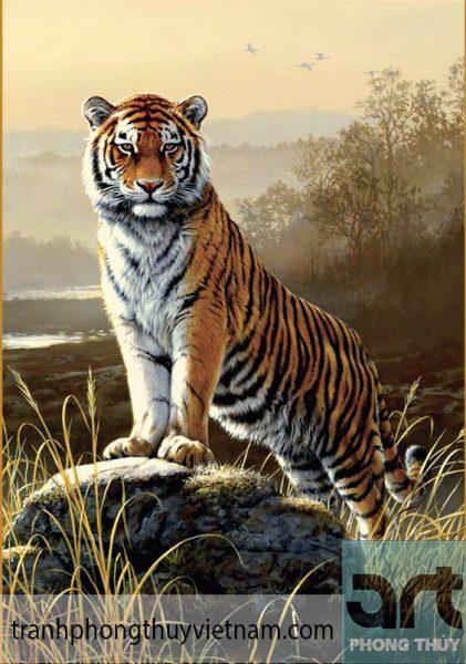 tranh phong thủy con hổ