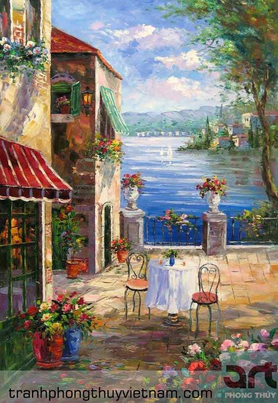 tranh tường quán cafe đẹp giá rẻ tại hà nội