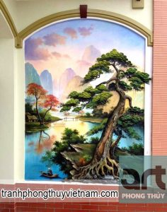 chuyên vẽ tranh tường phong cảnh tại hà đông hà nội