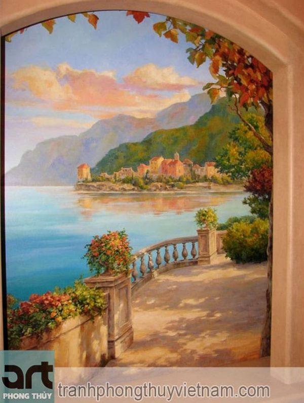 mẫu tranh tường phòng khách đẹp