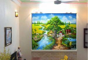 tranh tường phong cảnh quê hương việt nam