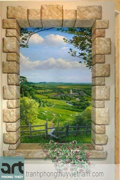 tranh tường phong cảnh thiên nhiên