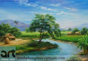 tranh đồng quê phong cảnh nông thôn