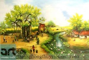 tranh làng quê đẹp giá rẻ tại hà nội
