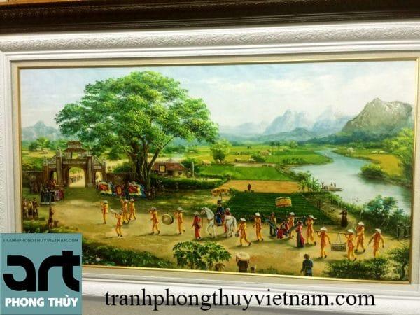 tranh sơn dầu đồng quê đẹp
