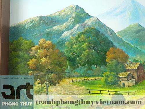 tư vấn thi công vẽ tranh tường phong cảnh tại hà nội