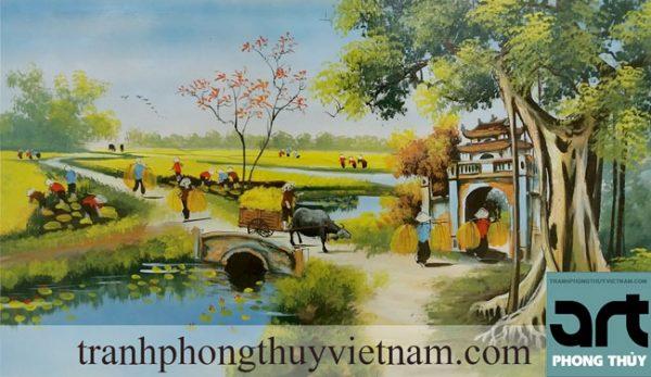 vẽ tranh đồng quê đẹp tại hà đông hà nội