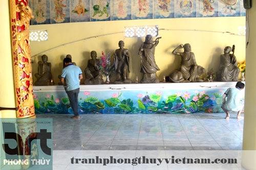 vẽ tranh tường đình chùa tại hà nội