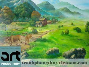 vẽ tranh tường phong cảnh tại hà nội
