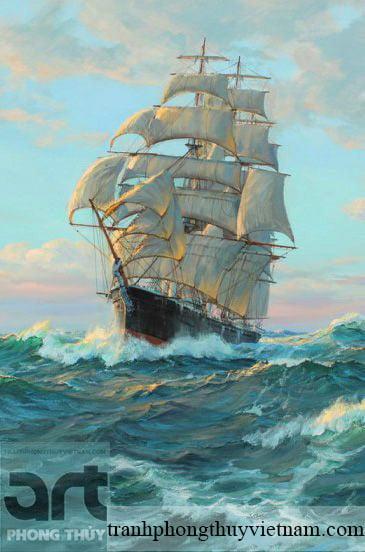 tranh phong thủy thuận buồm xuôi gió
