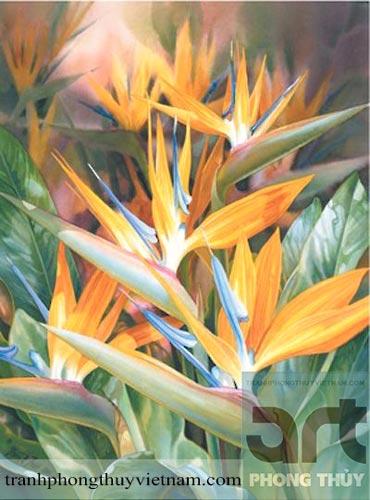 tranh sơn dầu hoa chuối