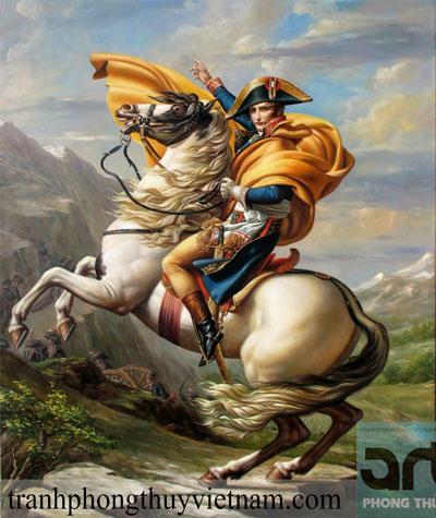 tranh sơn dầu napoleon cưỡi ngựa