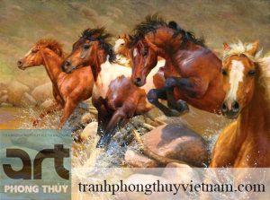 tranh sơn dầu tranh ngựa