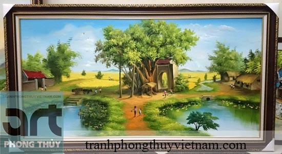 tranh đồng quê đẹp nhất Việt Nam