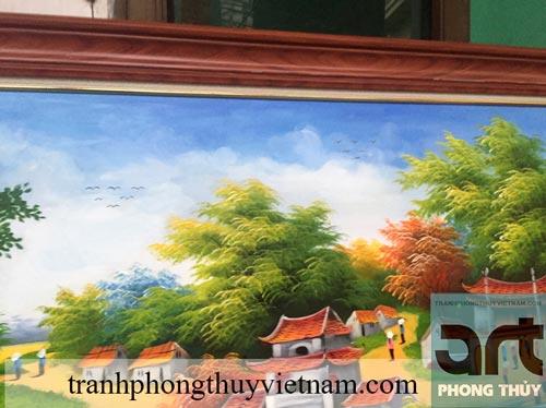 vẽ tranh đồng quê trang trí phòng khách