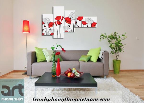 bộ tranh ghép treo tường đẹp giá rẻ