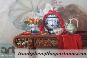 tranh sơn dầu trang trí phòng thờ 4