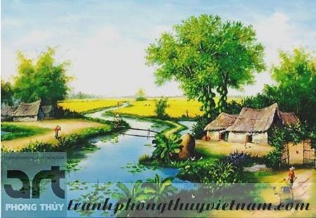 tranh sơn dầu đồng quê 2