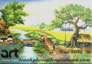 tranh sơn dầu đồng quê đẹp 2