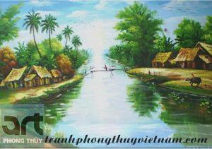 tranh sơn dầu đồng quê đẹp nhất việt nam
