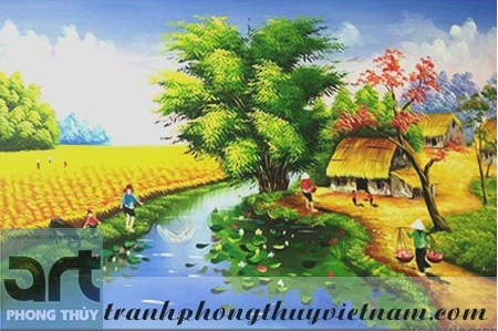 tranh sơn dầu đồng quê việt nam 2