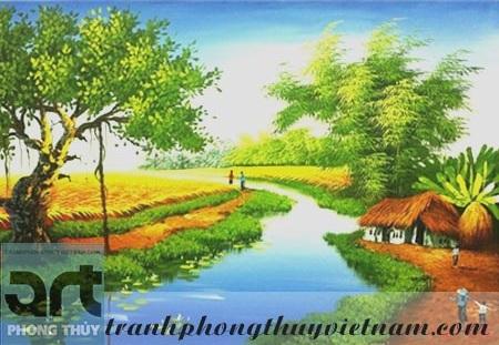 tranh sơn dầu đồng quê việt nam đẹp giá rẻ tại hà đông hà nội