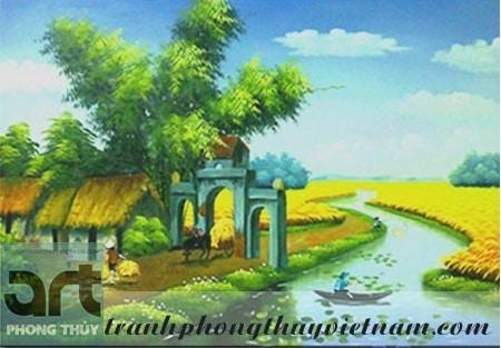 tranh sơn dầu phong cảnh đồng quê 2
