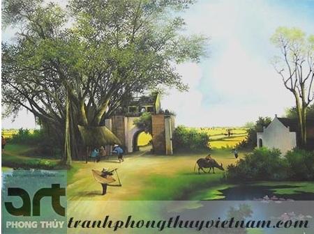 tranh sơn dầu phong cảnh đồng quê đẹp giá rẻ tại hà nội