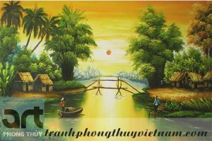 tranh sơn dầu phong cảnh đồng quê đẹp nhất