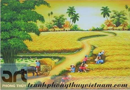 tranh sơn dầu phong cảnh đồng quê đẹp nhất hiện nay
