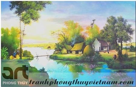 tranh sơn dầu phong cảnh đồng quê quá đẹp