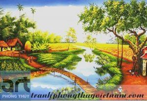 tranh sơn dầu phong cảnh đồng quê tuyệt đẹp