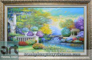 tranh sơn dầu phong cảnh trang trí đẹp